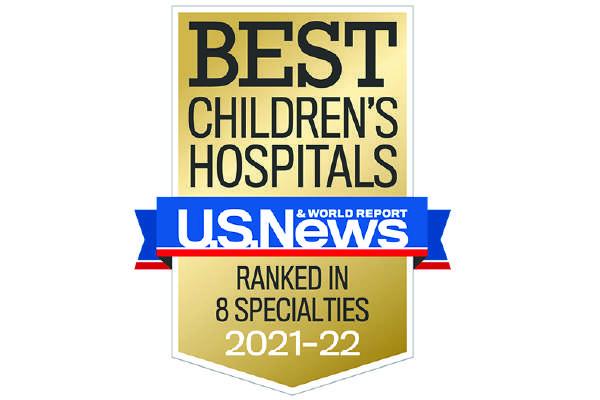 U.S. News Best Children's Hospital Badge